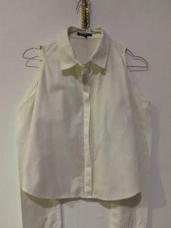 blouse kemeja sabrina putih white / kemeja off shoulder shirt zara korea