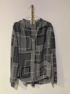 blouse kemeja vintage korea / kemeja shirt kerja / kemeja formal Zara