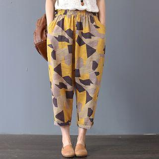 Linen spring ankle pants