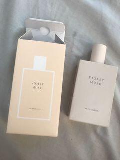 PRELOVED parfume miniso violet musk 50ml