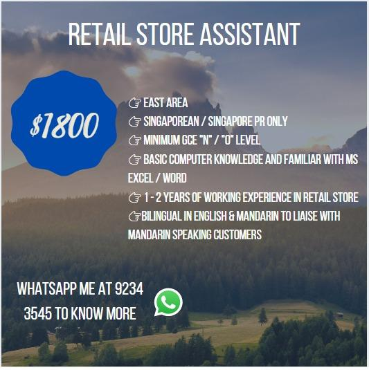 Retail Store Assistant