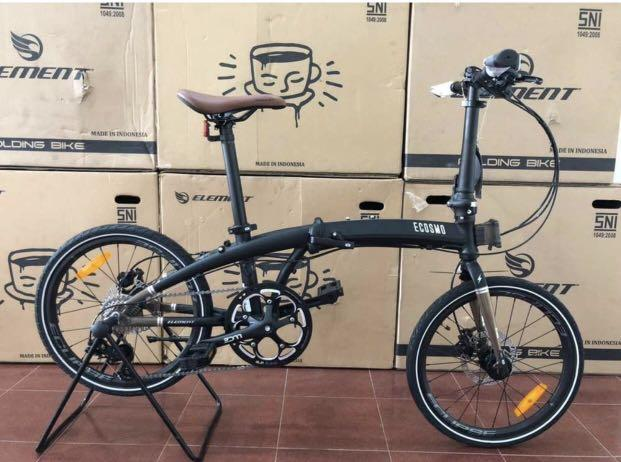 Sepeda Lipat Element Ecosmo 10 X Filosofi Kopi 2020 Black Brown + Free Bag
