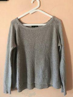Sweater grey oversize