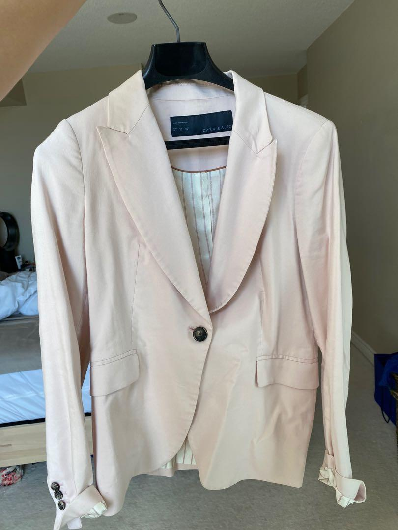Zara Light Pink Blazer Size Medium