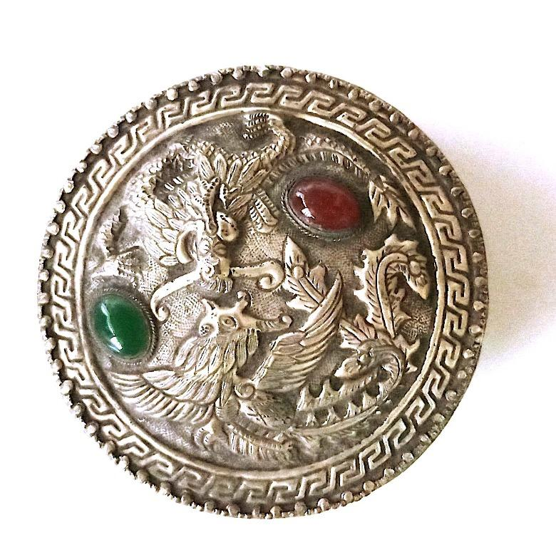 古董飾品和珠寶盒粉盒