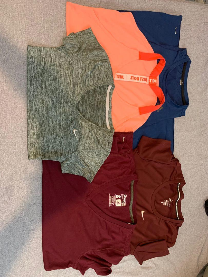Adidas and Nike Workout Sports Tops