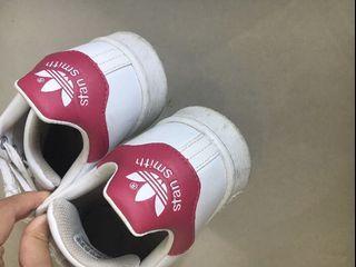 Adidas Stan Smith 桃紅尾
