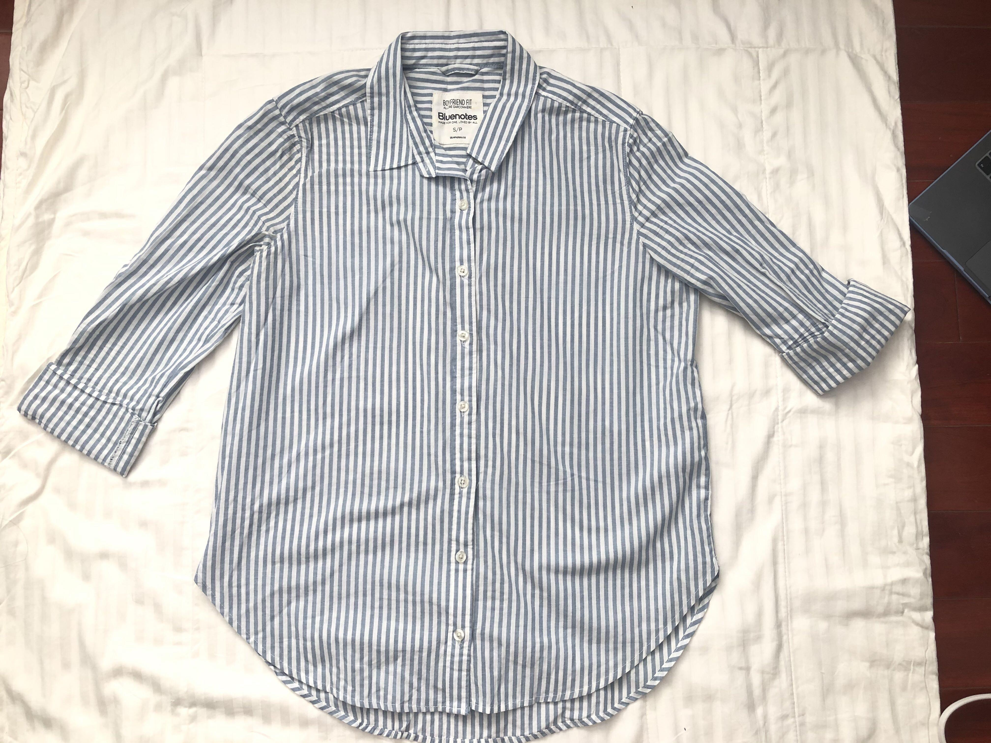 Bluenotes Striped Button Up