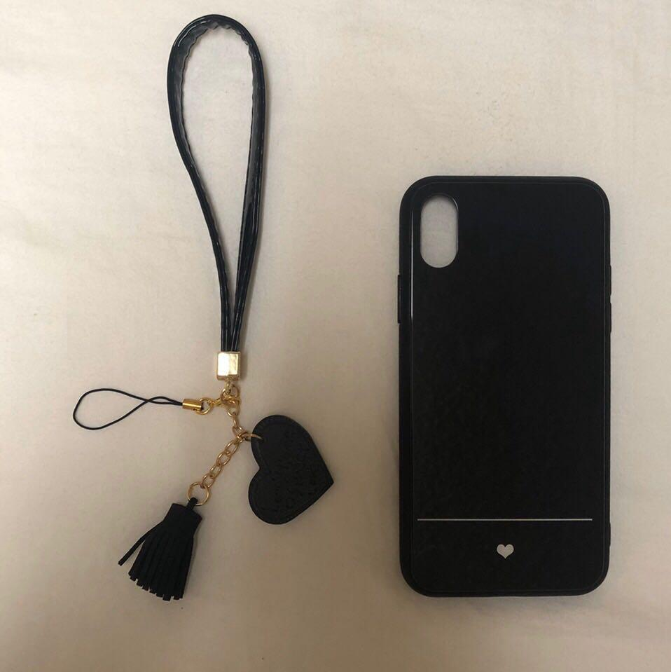 Brand New Glass Back Black iPhone X/XS Case