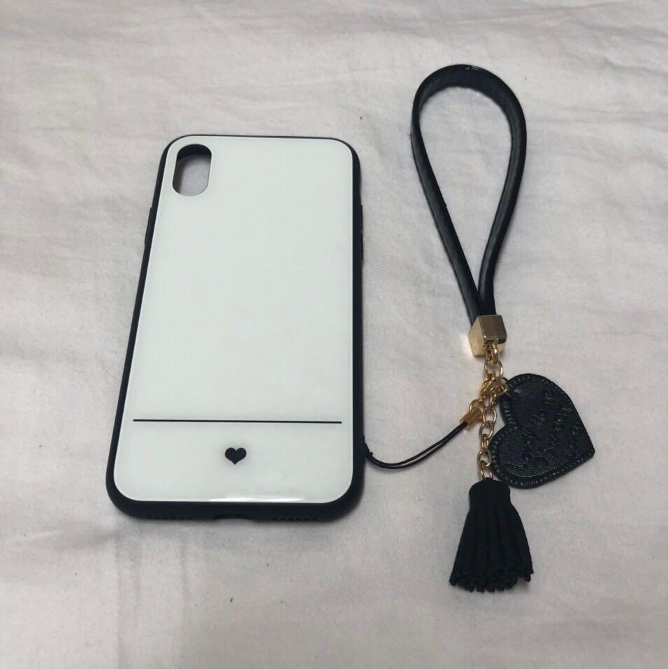 Brand New Glass Back White iPhone X/XS case