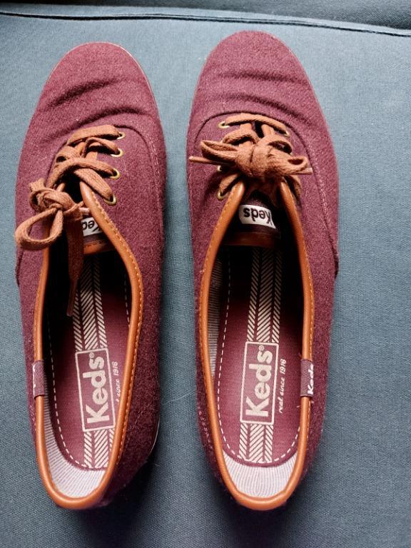 Burgundy Keds- size 8