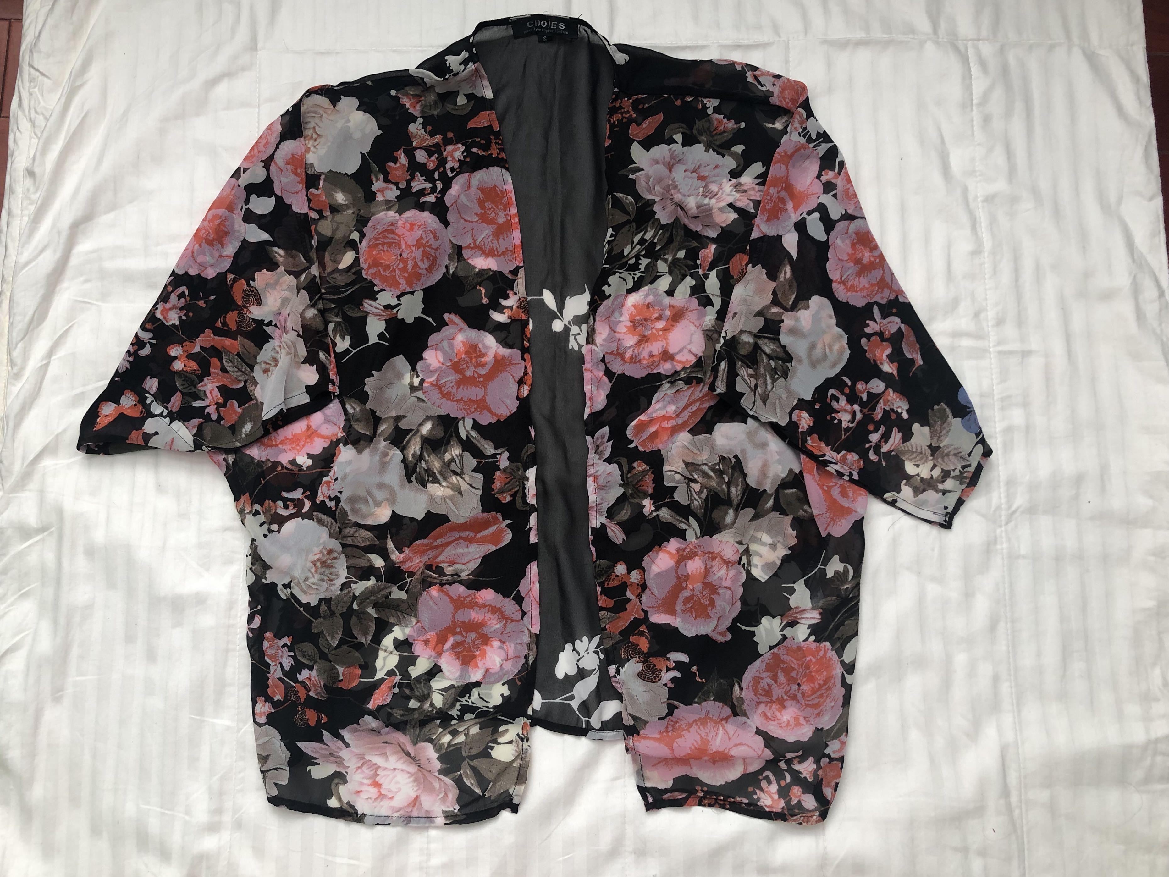 Choies Floral Chiffon Kimono