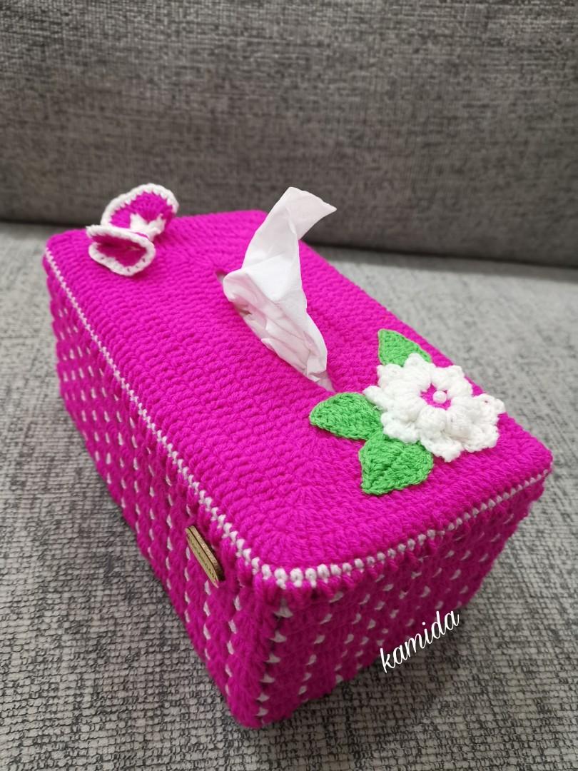 Crochet Tissue Box Cover Design Craft Handmade Craft On Carousell