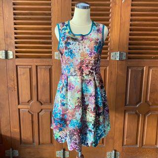 Floral colorful printed dress