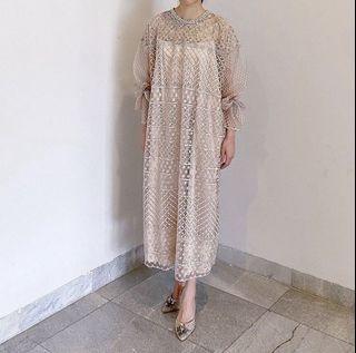 Sewa: Kemboja Dress in Nude (Inner Tanktop or Hijab Available)
