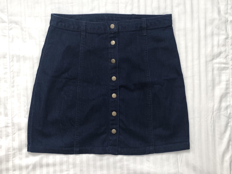 Forever 21 Button Front Denim Skirt