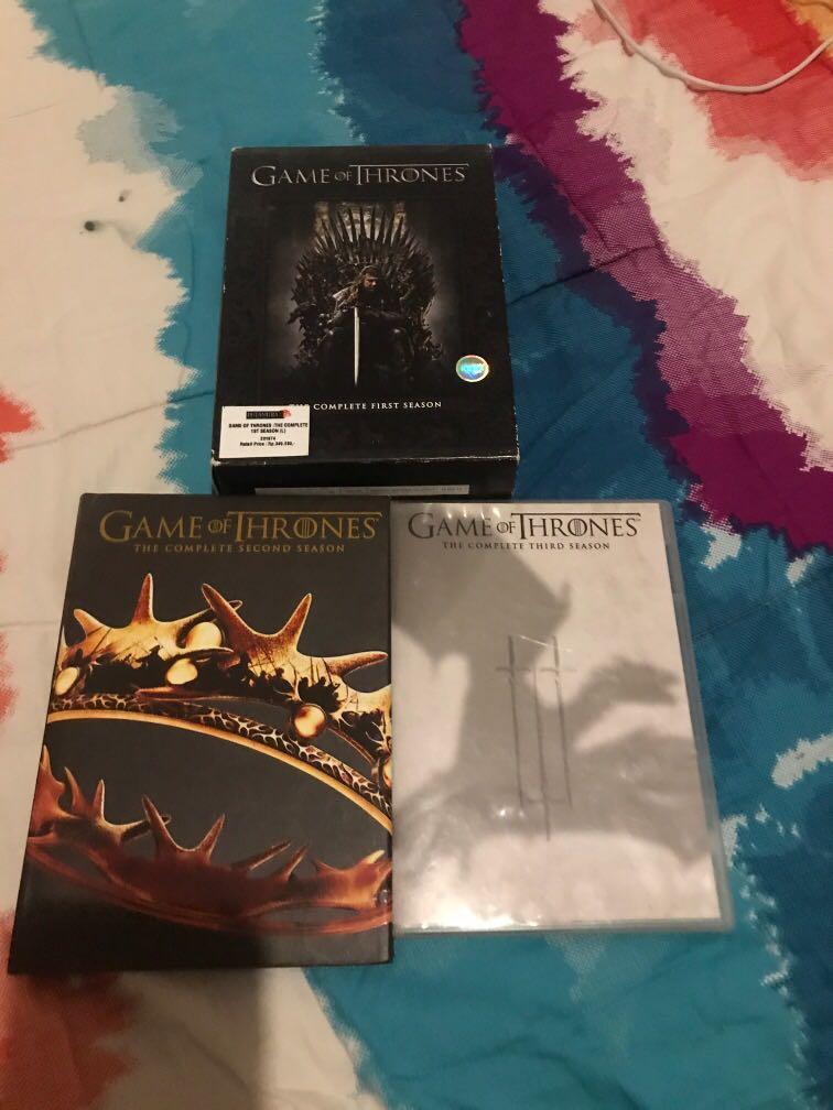 Game of thrones season 1,2,3 (ORI) (se paket)