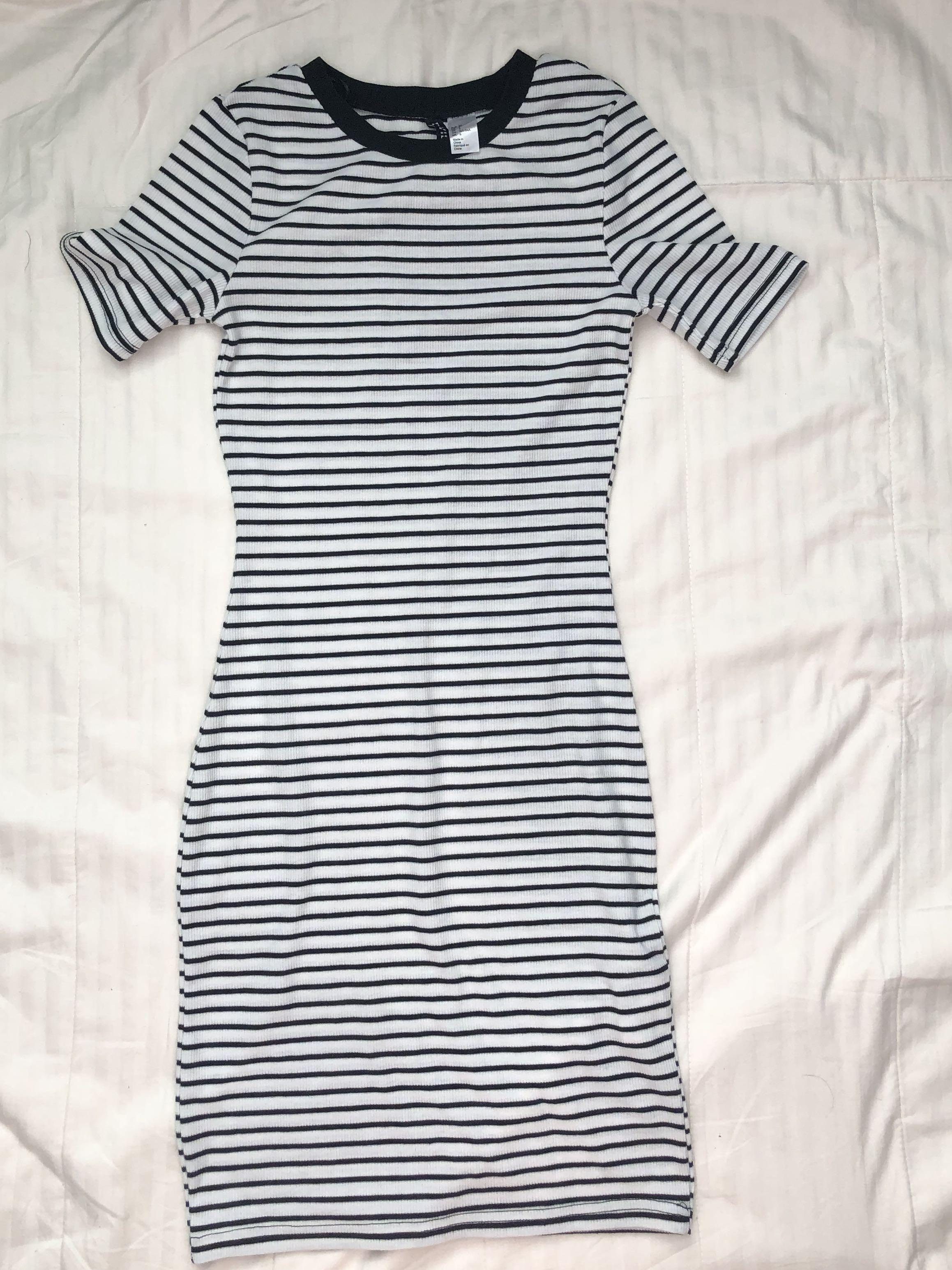 H&M Striped Bodycon Dress