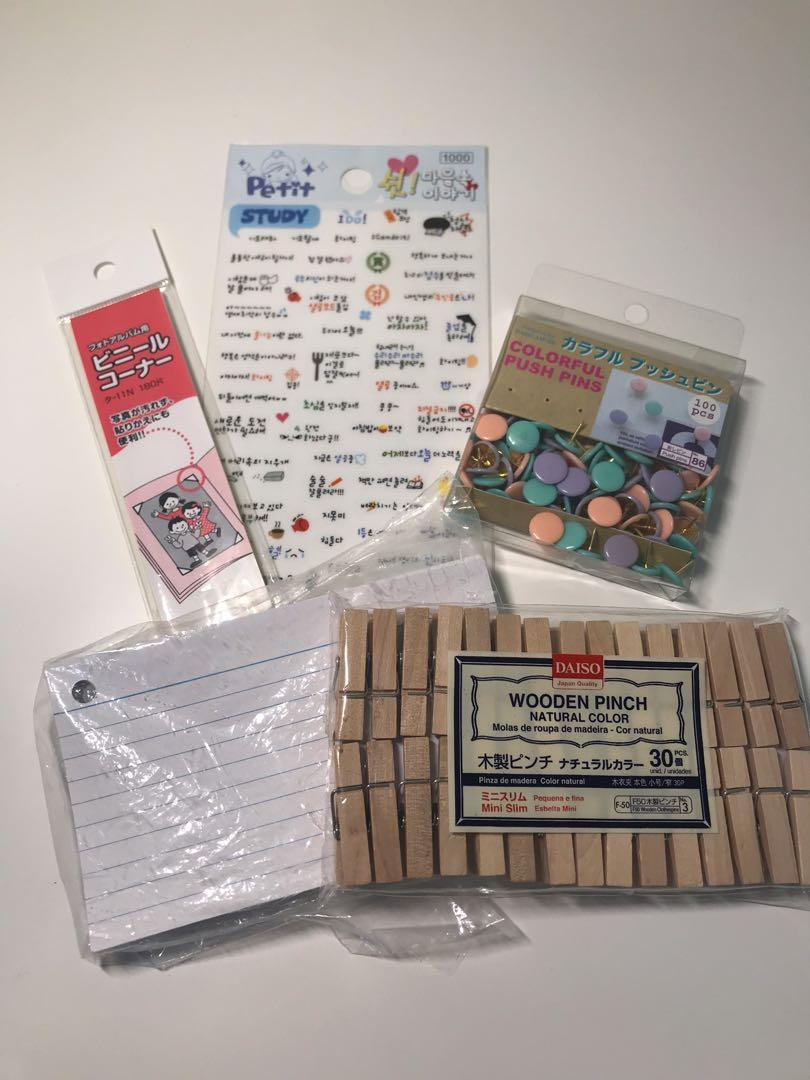 Japanese/Korean stationary bundle