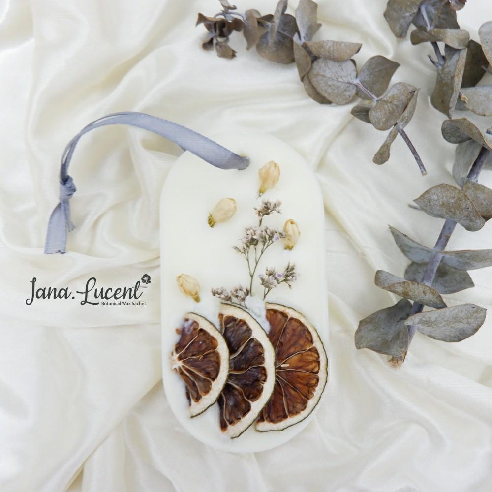 Jasminum Wax Sachet - Soy Wax with Dried Flower