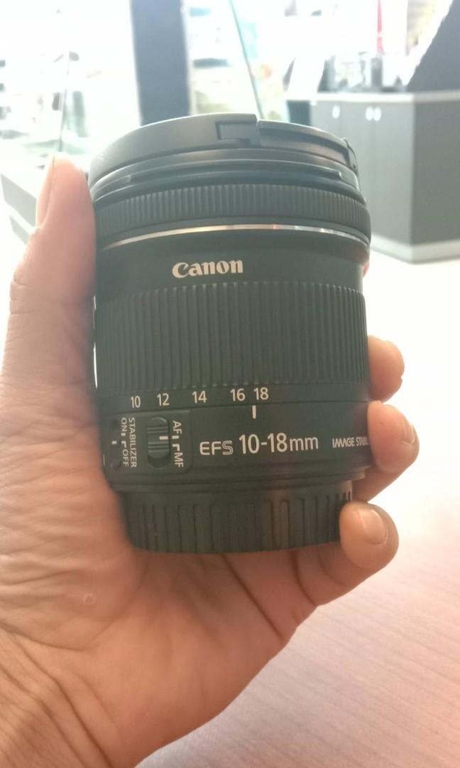 Lens wide 10-18 f4. For canon