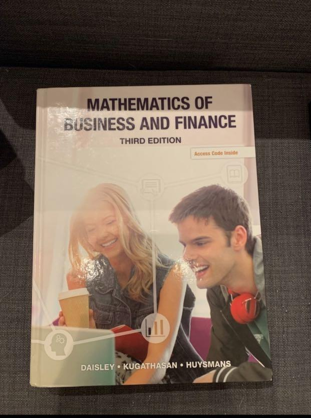 Mathematics of business and finance