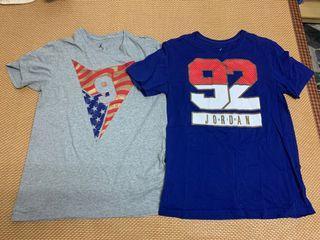 Nike Jordan T恤 L號。奧運組合包T恤 兩件一組