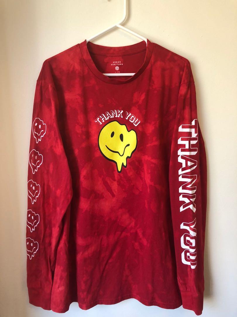 Tie Dye Red Long sleeve Shirt