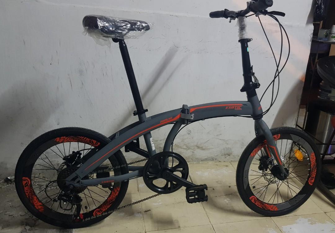 "Sepeda Lipat Exotic By Pasific 2026 MT 20"" 7 Speed Hidraulic"