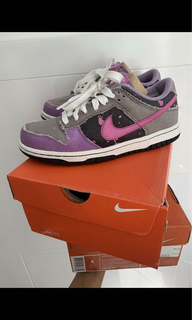 Women's denim Nike dunks