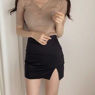 性感開叉黑裙含安全褲#開學季