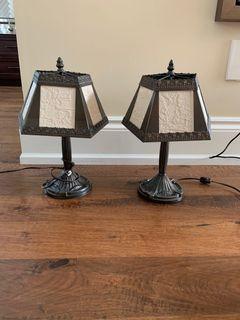 Antique table lamp x 2