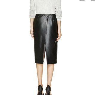 Aritzia Babaton Jax Leather Skirt Size 0
