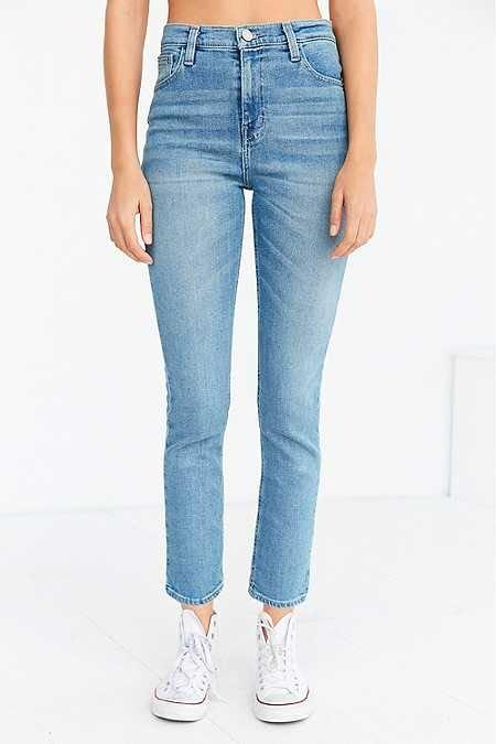 Aritzia bdg girlfriend high rise cropped jeans denim