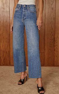 Aritzia Denim Forum Farrah Wide Leg Size 25