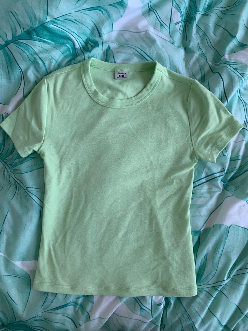Aritzia Sunday Best Little Ribbed T Shirt