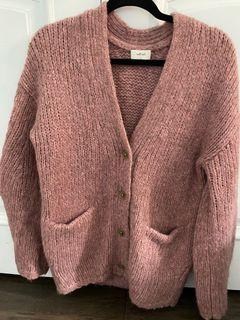 Aritzia Wilfred Eva Cardigan in Pink Size S