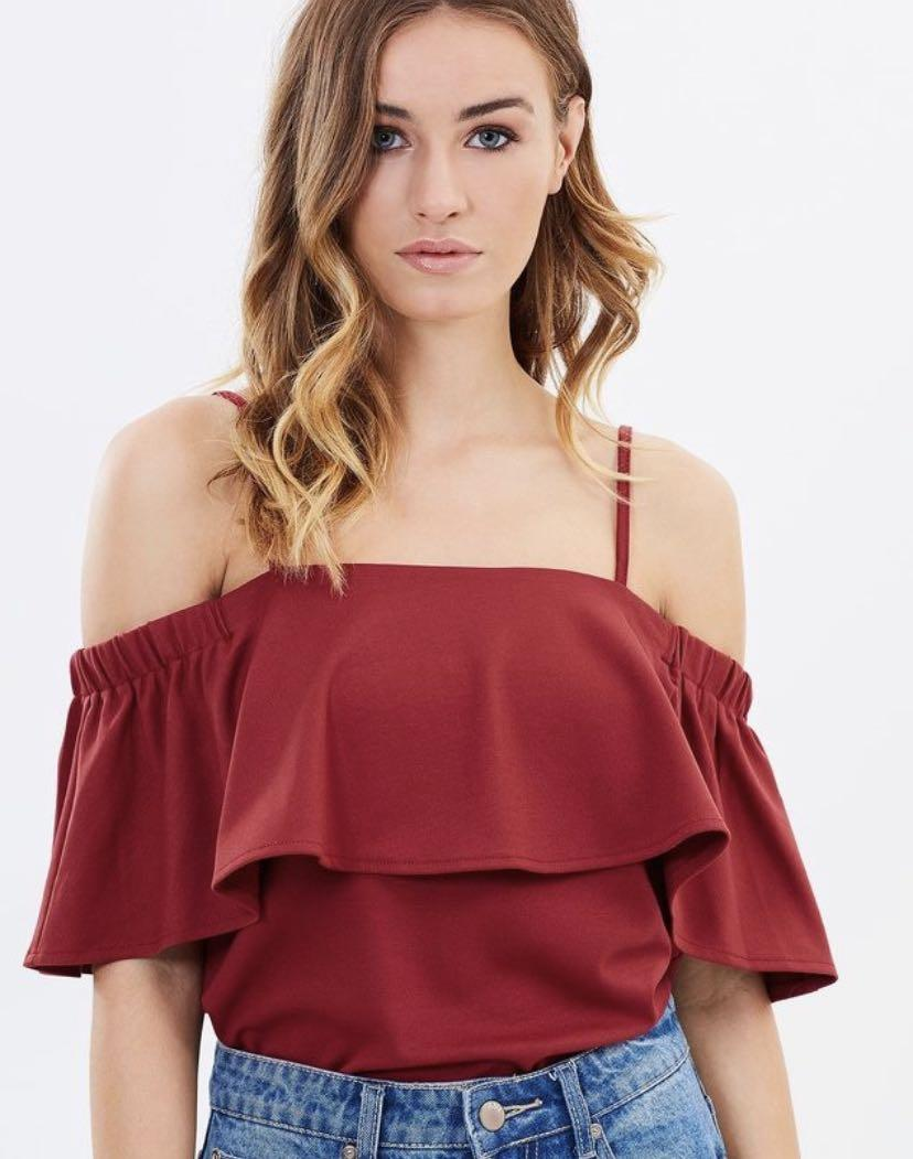 Atmos & Here Off Shoulder Top