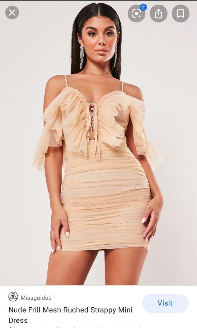 BNWT Missguided frilly bodycon dress