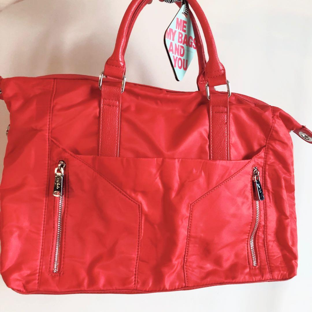 brand new red co-lab handbag with tags