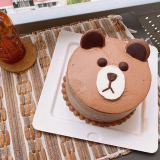 Brown Bear Belgian Chocolate Cake