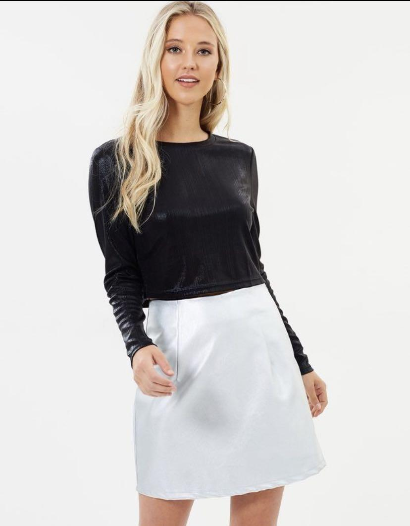 Dazie Metallic Skirt