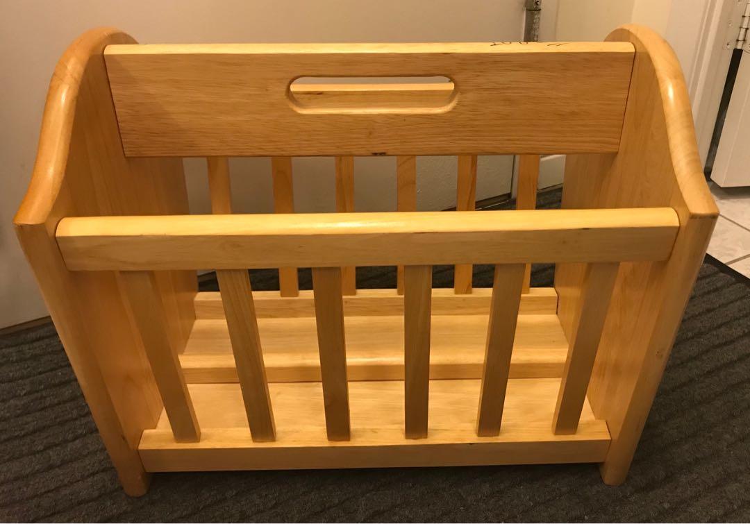 EUC solid wood magazine rack / book rack