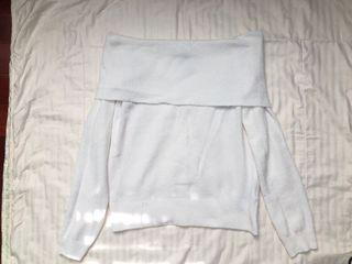 Forever 21 White Off the Shoulder Sweater