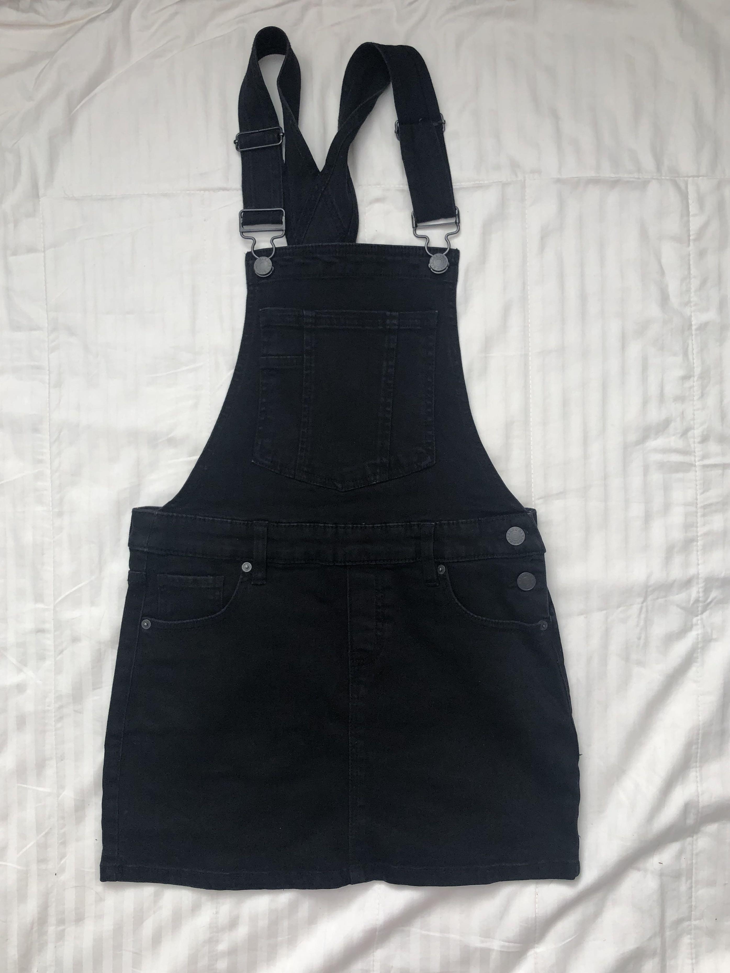 Garage Denim Overalls Dress