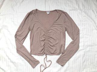 Garage Dusty Pink Ruched Front Shirt