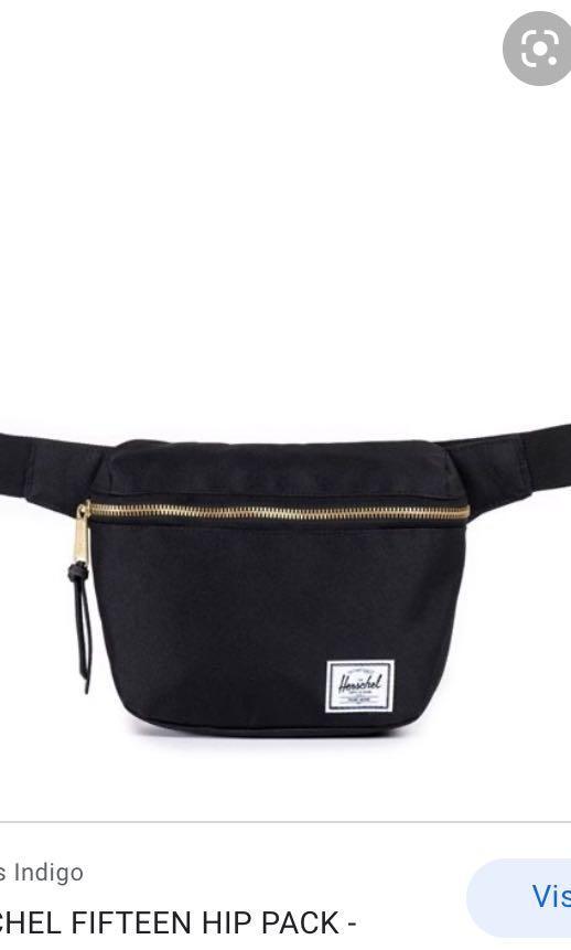 Herschel black fanny pack