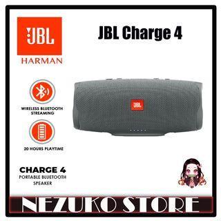 JBL Charge 4 Bluetooth Portable Stereo Speaker Waterproof Gray
