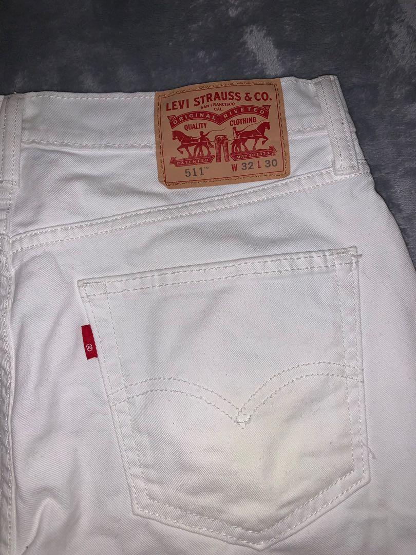 Levi's White Straight Cut Jeans