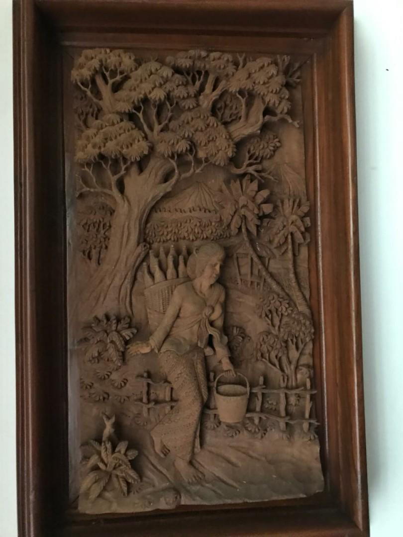 Lukisan ukiran jati jepara